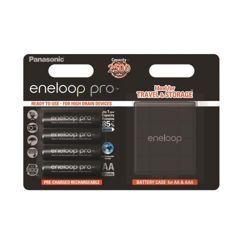 Product Main Image model eneloop AA 2500 mAh wide blister 4 pieces case included