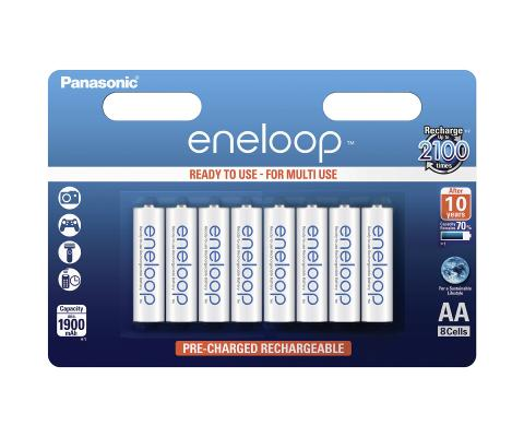 Product Main Image model eneloop AA 1900 mAh wide blister 8 pieces