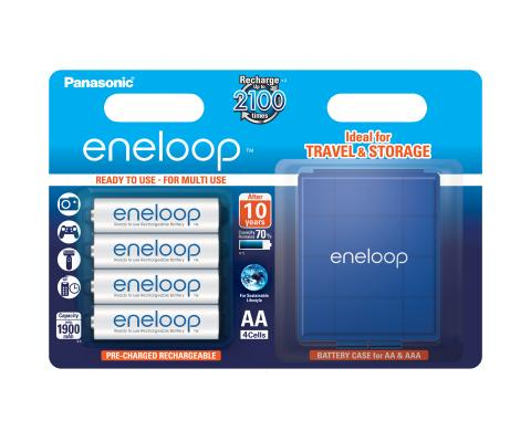 Product Main Image model eneloop AA 1900 mAh wide blister 4 pieces case included