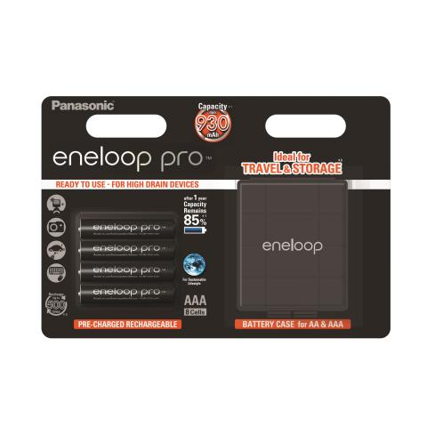 Product Main Image model eneloop AAA 930 mAh wide blister 4 pieces case included