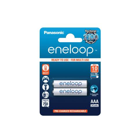 Product Main Image model eneloop AAA 750 mAh single blister 2 pieces