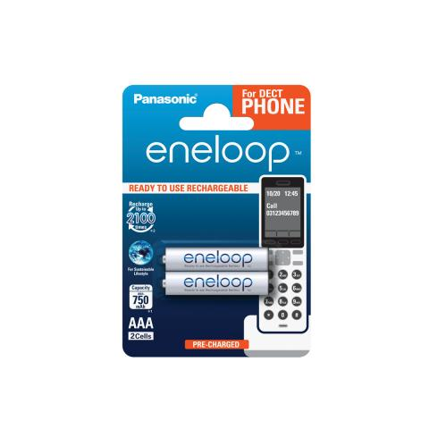 Product Main Image model eneloop AAA 750 mAh for DECT single blister 2 pieces