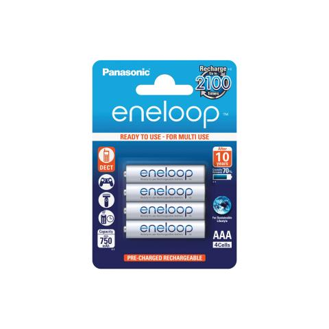 Product Main Image model eneloop AAA 750 mAh single blister 4 pieces