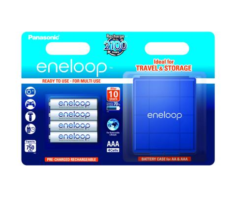 Product Main Image model eneloop AA 1900 mAh single blister 4 pieces case included